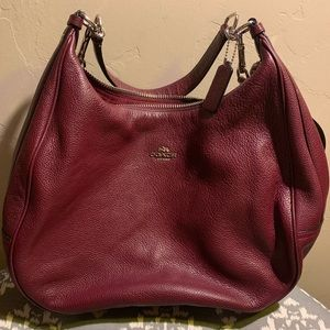 Coach burgundy large shoulder bag